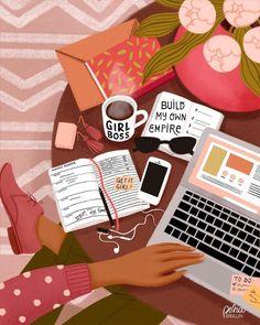 Black Girl Art, Art Girl, Art Et Illustration, Instagram Design, Aesthetic Art, Korean Aesthetic, Girl Boss, Cartoon Art, Cute Wallpapers