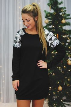 Mosaic Sweatshirt Dress