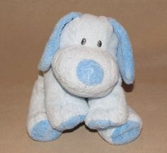 Ty Pluffies Blue Baby Whiffer Puppy Dog Plush Beagle Beanie Toy Stuffed 2006 #Ty