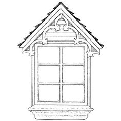 Attic Window - Large Unmounted Stamp by Classic Stampington & Company