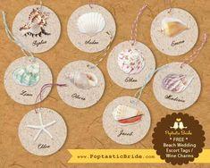 NEW: Seashells on Sand Beach Wedding Invitation Set   Free Printable
