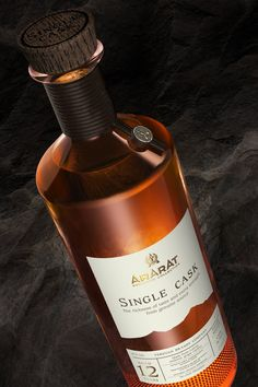 MEDIACRAT – ARARAT Single Cask ARARAT Single Cask 12 YO is the second limited edition of the exclusive collection of Yerevan Brandy Company. Malt Whisky, Scotch Whisky, Wine Packaging, Packaging Design, Label Design, Graphic Design, Bottle Labels, Whiskey Bottle, Cashier's Check