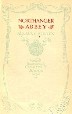 Northanger Abbey (Illustrated Free Audiobook « Library User Group