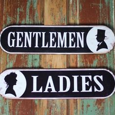 Metal Bathroom Signs | Vintage Bathroom Signs | Ladies Restroom Sign | Gentlemen…