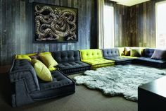 In love with all the Mahjong couched from Roche Bobois