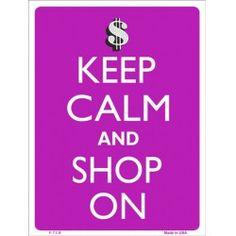 Keep Calm and Shop On - Purple