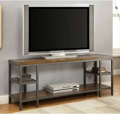 industrial metal tv stand