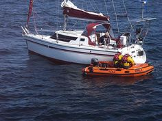 "The Y boat to the Lizard lifeboat ""Rose"" in action on 5th July 2013"