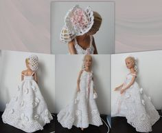 A suite in the parade -Styliste Pipiou Doll Dresses, Barbie Dress, Barbie Clothes, Flower Girl Dresses, Barbie Doll, Wedding Doll, Barbie Wedding, Fashion Dolls, Creations
