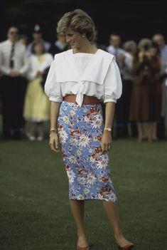 Princess Diana at a polo match in Cirencester, U.K. (1985)