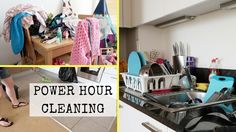 POWER HOUR CLEANING || SPEED CLEANING OUR APARTMENT - clean our kitchen, clean the bathroom, mop the floors, vacuum the carpet and wash the dishes. Homemaking at it's finest.