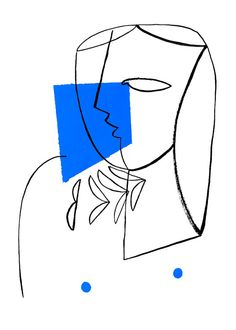 Abstract Illustration Portrait Of A Girl With Blue - Abstract Illustration Portrait Of A Girl With Blue Minimalist Painting Giclee Print Modern Geometric Art Poster Xcm Original Abstract Portrait Large Modern Art Painting By Fidostudio Wou Art And Illustration, Illustrations, Portrait Illustration, Geometric Face, Minimalist Painting, Kunst Poster, Art Moderne, Art Sketchbook, Art Inspo