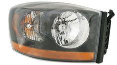 DODGE 06 RAM PU HL ASSY W/ BLACK BEZEL RIGHT SIDE ( PASSANGER SIDE) CH2518115 #AftermarketProducts