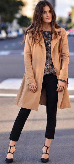 Blank Itinerary Camel Coat Fall Street Style Inspo #Fashionistas