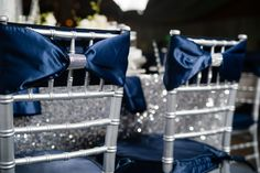 winter wedding inspiration - i love the idea of navy and silver blue silver winter wedding, chair covers, winter wonderland wedding, blue silver wedding ideas, blue and silver winter wedding, blue winter wedding ideas, winter weddings, blue and silver wedding ideas, chair decorations