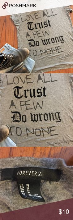 🔥Cool Tee🔥 🔥Cool Tee🔥 Say it all while saying nothing! Previously loved! Forever 21 Tops Tees - Short Sleeve