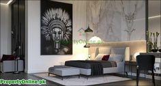 Colorful Bedroom Designs & Ideas Arty Bedroom, Bedroom Wall Colors, Bedroom Red, Master Bedroom Design, Modern Bedroom, Bedroom Decor, Bedroom Designs, Bedroom Ideas, Luxury Rooms
