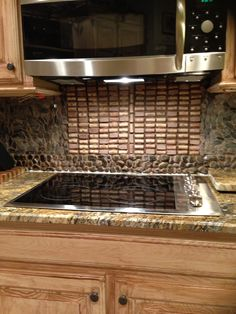 backsplash grouted wine corks