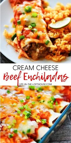 Mexican Entrees, Mexican Dinner Recipes, Beef Recipes For Dinner, Entree Recipes, Ground Beef Recipes, Cream Cheese Recipes Dinner, Easy Mexican Dishes, Mexican Cooking, Yummy Recipes