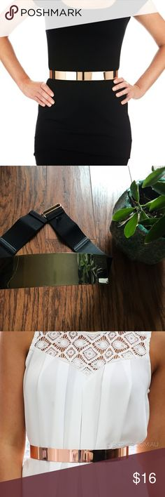 Gold metal belt Great condition. Very few scratches which are not even noticeable. Has an elastic band. Ask about bundles first because some items are located in HI and others in SC. Accessories Belts