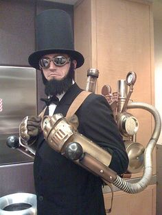 Steampunk Abe.  Historically accurate...