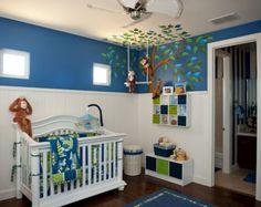 Monkey Nursery Wall Murals Room Theme  Best Nursery Wall Murals Room Inspirations