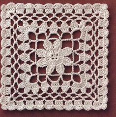Transcendent Crochet a Solid Granny Square Ideas. Inconceivable Crochet a Solid Granny Square Ideas. Filet Crochet, Beau Crochet, Crochet Quilt, Crochet Blocks, Thread Crochet, Crochet Doilies, Crochet Flowers, Granny Square Crochet Pattern, Crochet Stitches Patterns