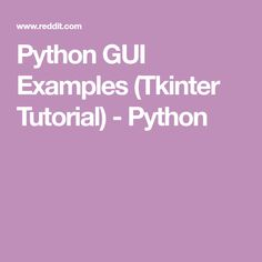 Tkinter Gui Application Development Hotshot Pdf