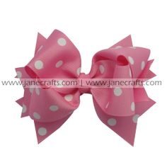 hair bow clip,spike bow clip,polka dot spike bow clip,bow clip,fashionable hair bow clip,hair bow clips for girls on http://www.janecrafts.com/hair-bows-with-clip/spike-bow-clips/polka-dot-spikes