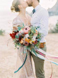 Southwest Inspired Wedding Inspiration with Aztec Influence