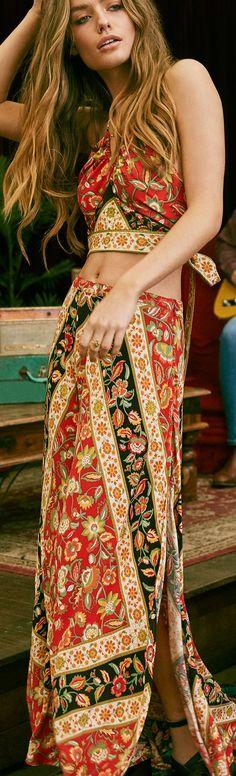 Boho Top & Skirt