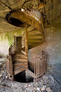 Spiral staircase and the beauty of forgotten places - these are a few of my favorite things.