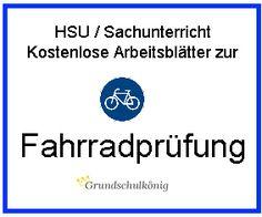 Kostenlose Arbeitsblätter und Übungen zur Fahrradprüfung in HSU…