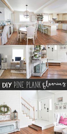 DIY pine plank floor