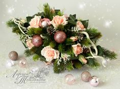 Floral Wreath, Christmas Decorations, Xmas, Wreaths, Home Decor, Navidad, Modern Floral Arrangements, Center Table, Flowers