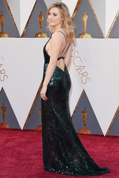 Saoirse Ronan gorgeous and nice booty at Academy Awards 2016