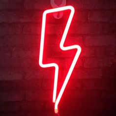 Neon LED Lightning Shape Signs Lamp Hanging Art Wall Decorative for Baby Room Christmas Wedding Birthday Supplies (red Light) Wallpaper Iphone Neon, Iphone Wallpaper Tumblr Aesthetic, Black Aesthetic Wallpaper, Red Aesthetic Grunge, Neon Aesthetic, Aesthetic Vintage, Red And Black Wallpaper, Neon Rouge, Neon Licht