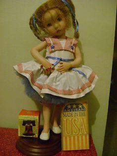 Little Miss Liberty Bell Porcelain Doll - Dianna Effner - Ashton Drake