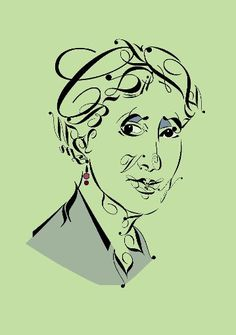 """Virginia Woolf, figured from letters, punctuation characters and numerals  """"Typoeten"""" by the german artist Raalf Mauer - sooo great!"""