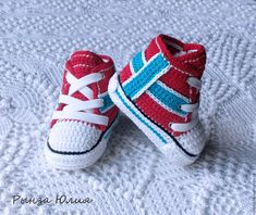 """Купить Кеды-флаги """"НОРВЕГИЯ"""" - норвегия, кеды, вязаные кеды, обувь, детская обувь"""