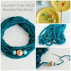 Make a Crochet Chain Stitch Beaded Necklace