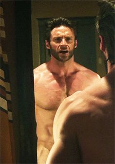 Hugh Jackman. I think we all need this gif somewhere on our Pinterest