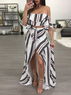 Two-Pieces dresses vestido strapless, summer dress outfits, cute outfits, s Dress Outfits, Casual Outfits, Cute Outfits, Fashion Outfits, Dress Casual, Cheap Dresses, Cute Dresses, Maxi Dresses, Long Dresses