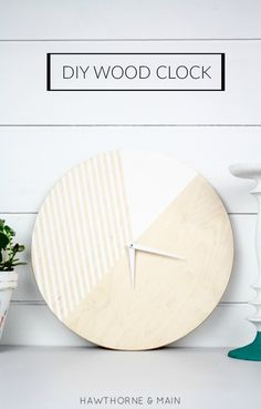 This DIY Wood Clock is awesome and totally customizable! I love that I can make one that fits my style.  From MichaelsMakers Pretty Providence