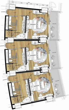 hotel floor plan hotel floor plan Be - hotel Apartment Layout, Apartment Plans, Apartment Design, Hotel Floor Plan, House Floor Plans, Design Hotel, The Plan, How To Plan, Plano Hotel