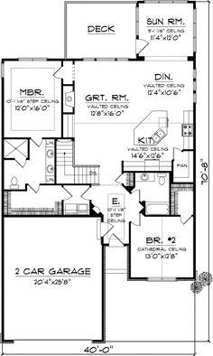 Main Floor Plan: 7 1067. Duplex PlansHouse Plans DesignMonster ...