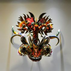 Bolivian Mask on Flickr. By Rene Flores Ordonez, 2006. On display in the Wellcome Collection. Masks like this are made for the Diablada (Da...