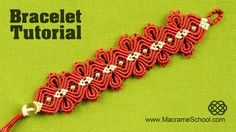 Macramé Jewelry Tutorial: Amazing Diamond Flower Bracelet in two colors with beads and button closure. Please check out other Macrame Bracelets in playlist: ...                                                                                                                                                      More