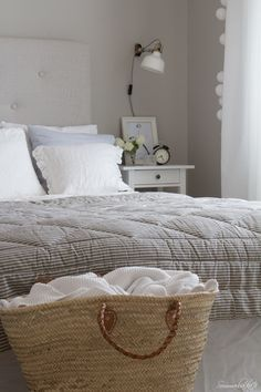 www.Sommarbacka.fi: Dream Bedroom, Home Bedroom, Dreams Beds, Country Interior, Grey Room, Double Bedroom, Cottage Homes, First Home, Home Renovation