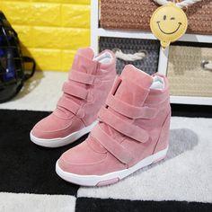 Winter Autumn Korean Hidden Heel Flock Fashion Wedge Casual Shoes   Price    36.55  amp 65f7286c5f88